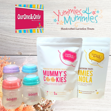 Load image into Gallery viewer, Yummies4mummies & OurOne&Only - Storage Bottles + Lactation Bakes Bundle