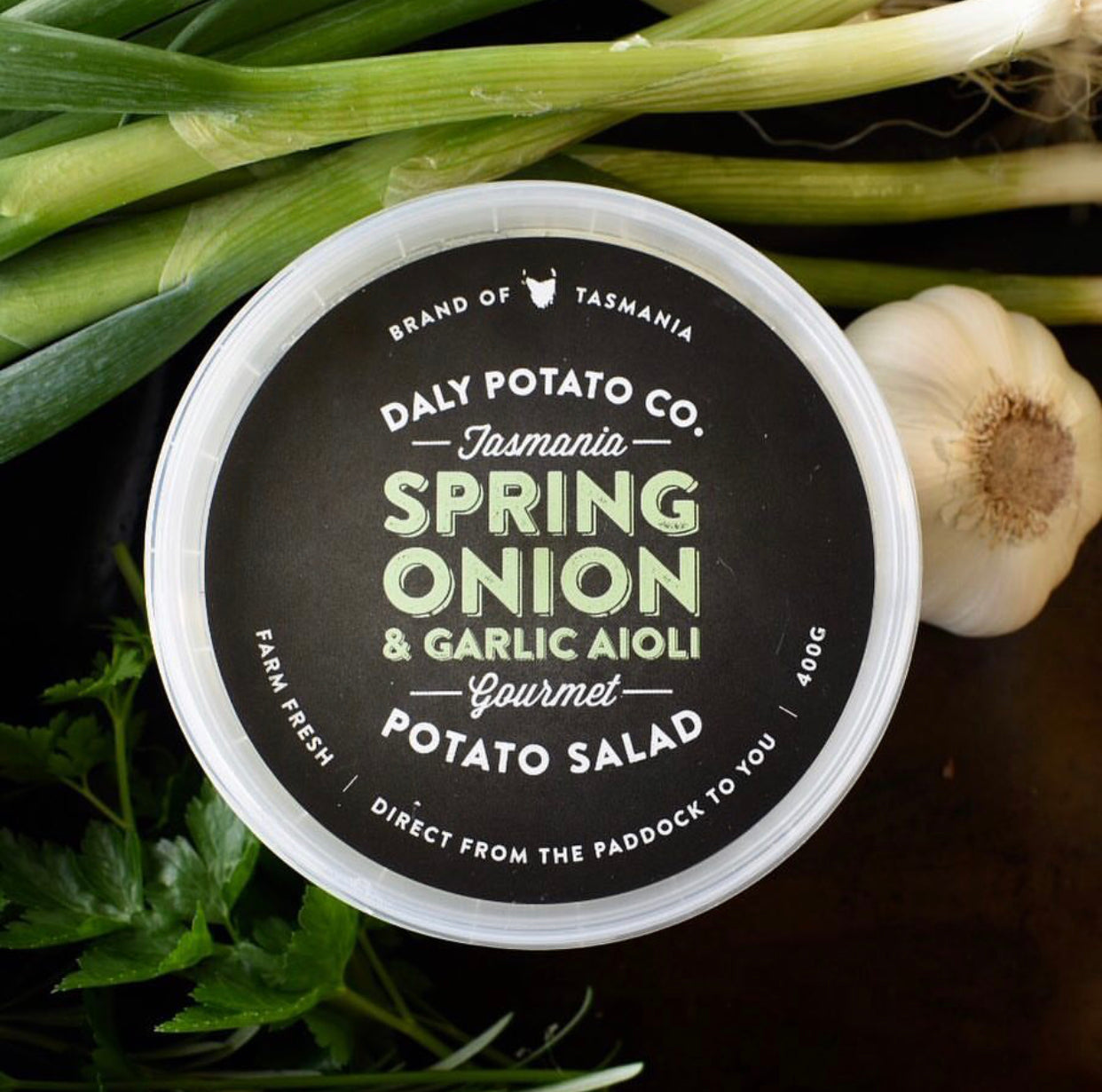 Spring Onion & Garlic Aioli Potato Salad