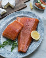 Load image into Gallery viewer, Hot Smoked Atlantic Salmon 1kg Whole Side