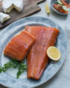 Hot Smoked Atlantic Salmon 1kg Whole Side