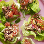 Pork Lettuce Wraps with Grapefruit