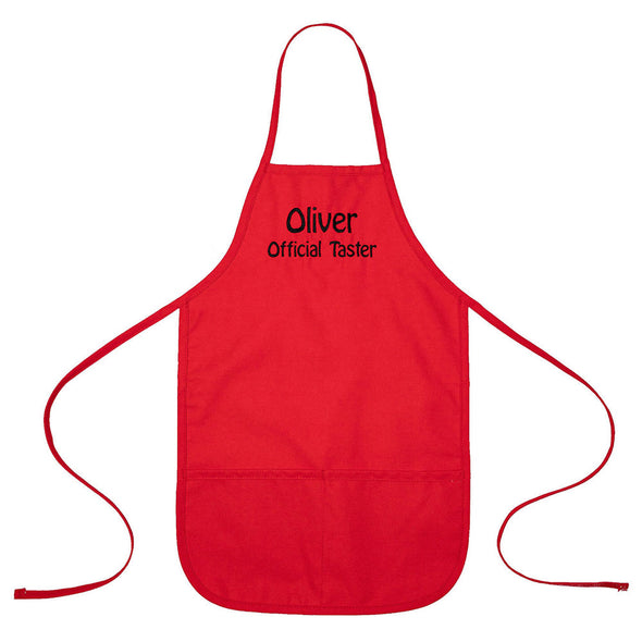 Personalized Child Apron Embroidered 2 Lines of Text