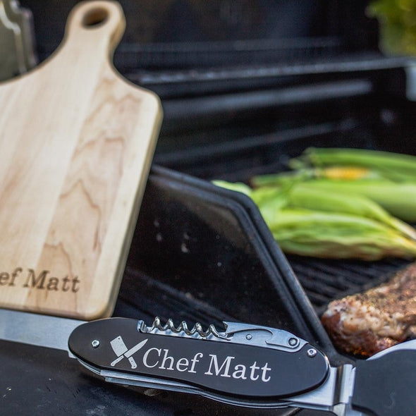Personalized Laser Engraved 5-in-1 BBQ Tool