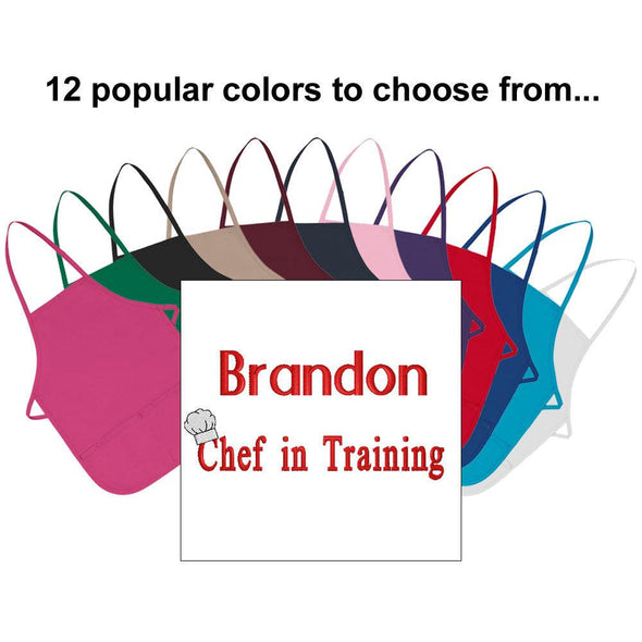 Embroidered Personalized Chef in Training Child Apron