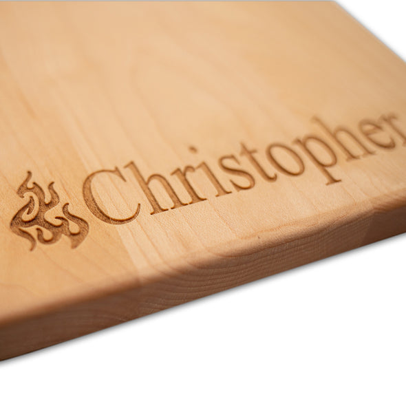Personalized Laser Engraved Grill Master Cutting Board (Rectangle or Paddle Shaped Options)