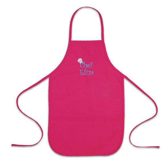 Personalized Child Apron Embroidered Chef Any Name Add a Name