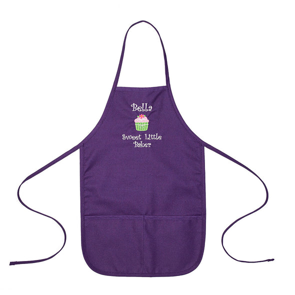 Embroidered Personalized Sweet Little Baker with Name Kids Apron