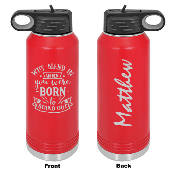 Personalized Why Blend In Laser Engraved Water Bottle