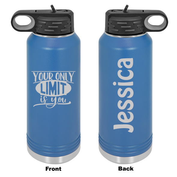 Personalized Your Only Limit Is You Laser Engraved Water Bottle