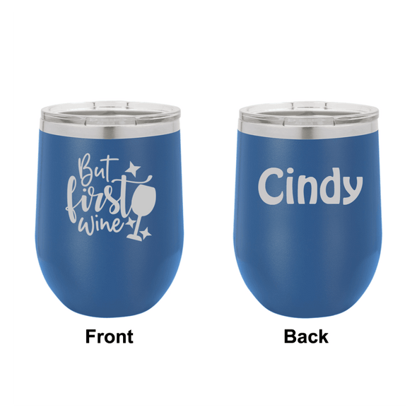 Personalized But First Wine Engraved Wine Tumbler