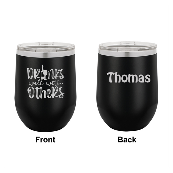 Personalized Drinks Well With Others Engraved Wine Tumbler