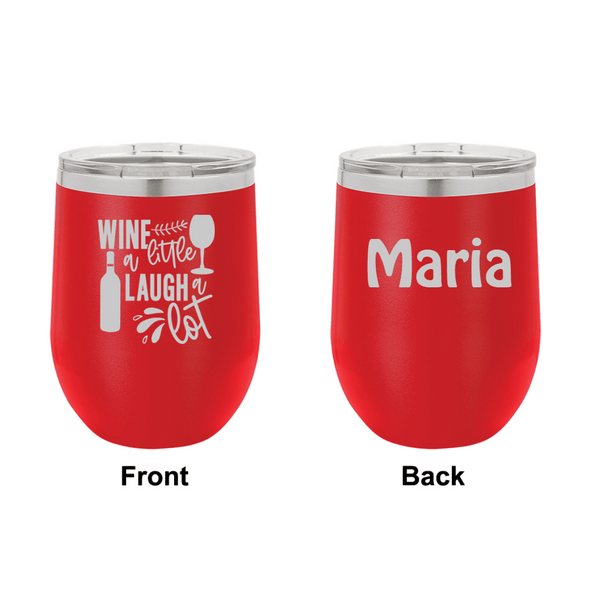 Personalized Wine a Little Laugh a Lot Engraved Wine Tumbler