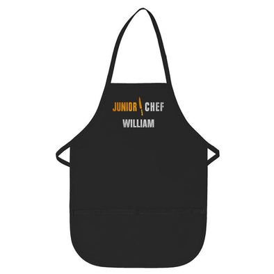 Personalized Apron Embroidered Junior Chef Design Add a Name
