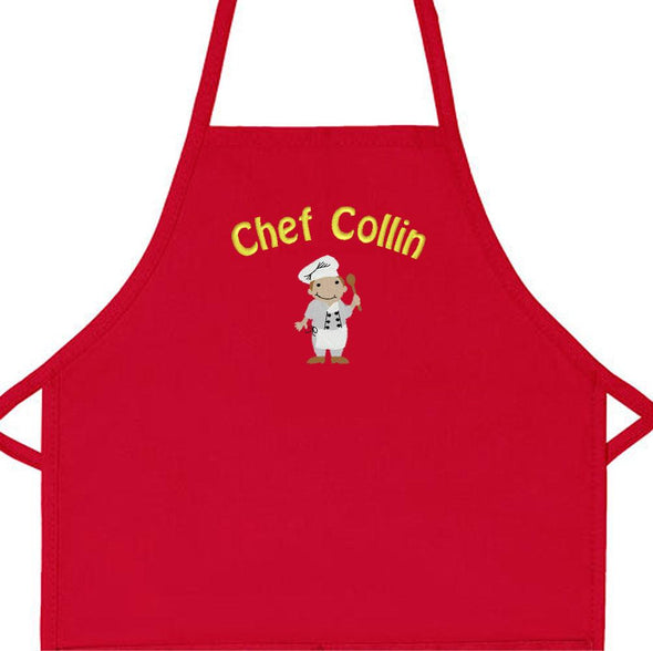 Embroidered Personalized Kids Chef Child Apron