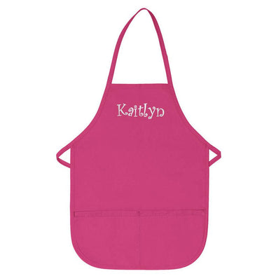 Personalized Apron Embroidered Name or Text Child Apron
