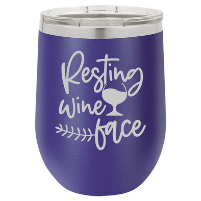 Personalized Resting Wine Face Engraved Wine Tumbler