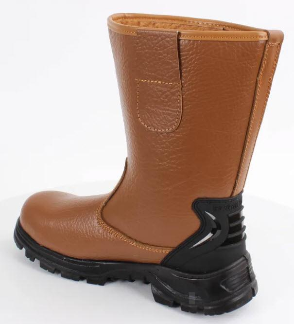Hunter Apparel Direct Footwear Tan Fur Lined Rigger Boot