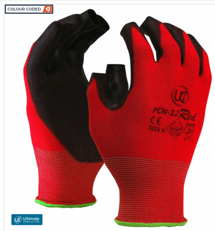 Hunter Apparel Direct Gloves PCN-12-RED Fingerless Red Glove