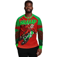 "Load image into Gallery viewer, Motocross Santa ""Ugly"" Christmas Sweatshirt"