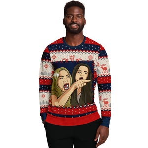 "Cat Meme 1 ""Ugly"" Christmas Sweatshirt"