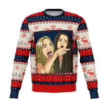 "Load image into Gallery viewer, Cat Meme 1 ""Ugly"" Christmas Sweatshirt"