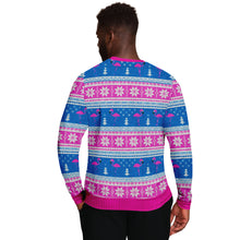 "Load image into Gallery viewer, Flamingo ""Ugly"" Christmas Sweatshirt"