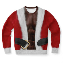 "Load image into Gallery viewer, Fit Santa African American ""Ugly"" Sweatshirt"