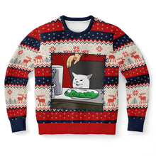 "Load image into Gallery viewer, Cat Meme 2 ""Ugly"" Christmas Sweatshirt"