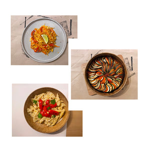 17/05 Nasi Goreng, Ratatouille, Hummus Pasta with Roasted Red Peppers