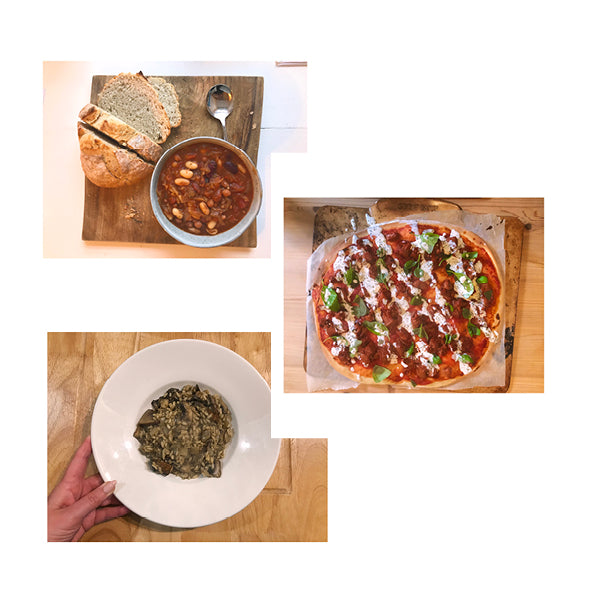 14/12 - Hearty Bean Stew, BBQ Jackfruit Pizza and Portobello Risotto