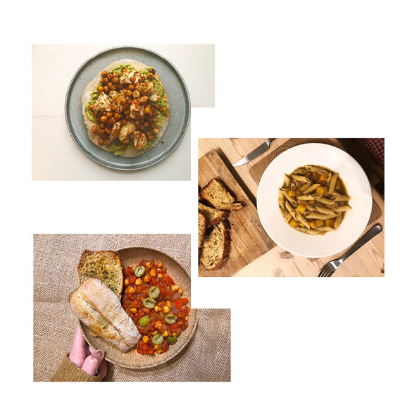 30/11 - Spicy Cauliflower and Chickpea Avo Pittas, Butternut Squash Pasta and Shakshuka
