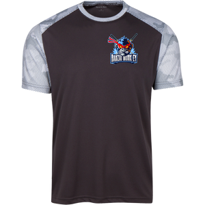 YST371 Youth CamoHex Colorblock T-Shirt
