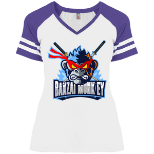 DM476 Ladies' Game V-Neck T-Shirt