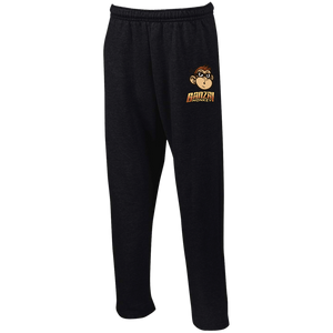G123 Open Bottom Sweatpants with Pockets