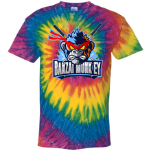 Load image into Gallery viewer, CD100Y Youth Tie Dye Mad Monkey T-Shirt
