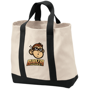 B400 2-Tone Monkey Shopping Tote