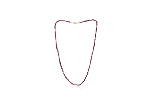 14K Yellow Gold Faceted Garnet Necklace