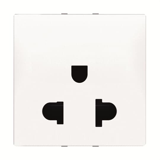 N2238 BL - Euro-American earthed socket outlet,125/250V AC, 15/16A, 2 P+E(2CLA223800N1102)