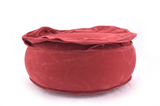 2 PIECES (WITHOUT CARDBOARD) SAMTEN SUN THE ROUND, INFLATABLE TRAVEL MEDITATION CUSHION ONLY 290G, YOGA ZAFU, KAPOK - Red