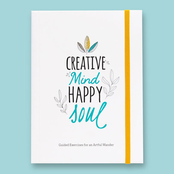 Creative Mind Happy Soul Inspirational Self Care Journal | Designed by Doodle Lovely