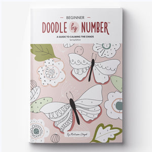 Doodle By Number Book | A Guide to Calming the Chaos Designed by Doodle Lovely