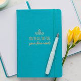 Fuel Your Fire Notebook | Hardcover Notebook Designed by Doodle Lovely