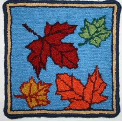 Leaves Large Rug Hooking Kit | 10 x 10