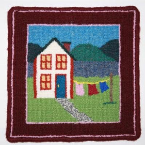 "Saltbox House Large Rug Hooking Kit | 10 x 10"" Complete Rug Hooking Kit"