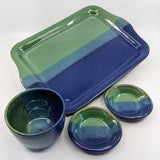 Serving Essentials Kit | 4-piece Handmade Stoneware Pottery Serving Kit FREE SHIPPING IN CANADA