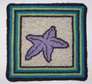 "Starfish Large Rug Hooking Kit | 10 x 10"" Complete Rug Hooking Kit"