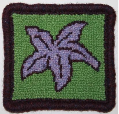 Starfish Coaster Rug Hooking Kit | 4 x 4