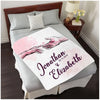 Personalized Custom Throw Blanket, Fleece blanket