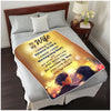 To My Wife I know The Distance is Hard  Personalized Blanket