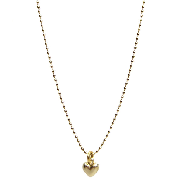 14k Pindot Chain Heart Necklace